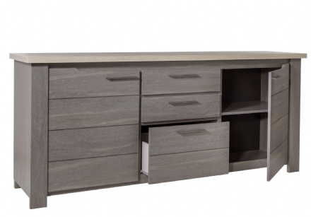 Grey Oak or White Ash Sideboard